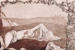 Luce del deserto - 1999 ceramolle, acquatinta cm 23.5x31.7