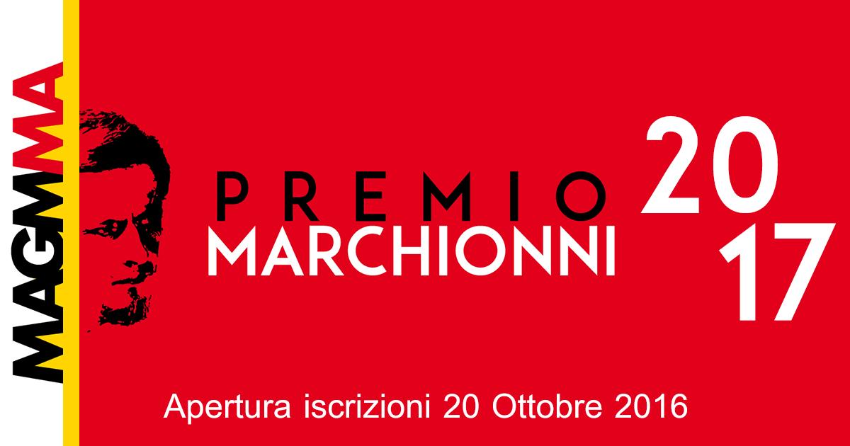 Apertura iscrizioni Premio Marchionni 2017