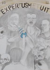 0001-Alain-cristiano-ferraris-expertus Metuit-grafite E Acquerello Su Carta-70x50