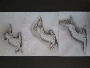 0002-Albert-adam-gadomski-progressione Scomoda-trittico-matita Su Carta-33x48