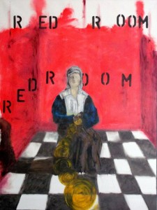 0002-alain-cristiano-ferraris-(Sitting In The) Red Room-Pittura-Olio su Tela-80x60