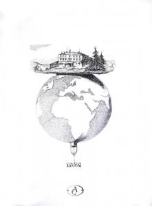 0012-Andrea-ciresola-la Casa-china Su Cartone Canson-cm68x48