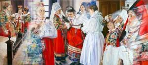 0014-cristina-maddalena-Rosso ieratico di Ollolai-pittura-olio su tela-120x270