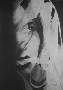0023-Caterina-dore-incanto-matite-su Cartoncino-50x70