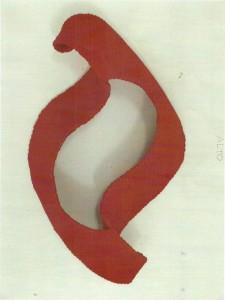 0026- Giuliana Natali - In fiamma - lana intrecciata su rete - 75x44x18
