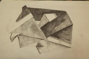 0027-Daniela-sarigu-fold, Piega-matita Su Carta-18x25 Cm