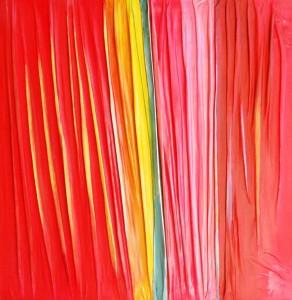 0028-giuseppe-zumbolo-Rosso dominante-2019-pittura acrilica su tela piegata in verticale-cm 100x100