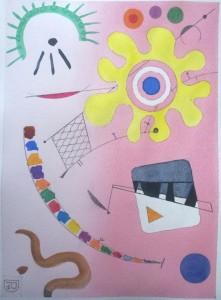 0031-Davide-prevosto-composizione N°5-acquerello E Grafite Su Carta-18 X 24 Cm