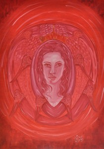 0036-liberata-mizzoni-Madonna degli Angeli-olio su tela-50x70