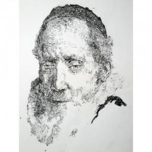 0045-Filippo-matarozzi-rembrandt Revised, Jan Cornelis Sylvius Matita E Inchiostro Su Cartoncino Liscio 17cmx21cm
