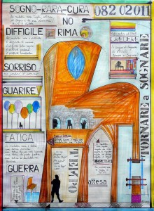 0051-Giovanni-trimani-chair-man-heal Me-matite,marker E Varie Su Carta-59x80