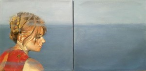 0060 - Rosalba Zutta - The sea inside-Olio su tela-Dittico30x60
