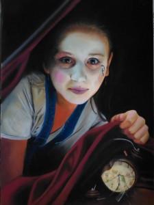 0063-Laura-muolo-ssst Silenzio - Pastelli Morbidi Su Cartoncino Pastelmat - 50x70