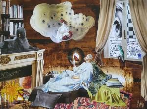 0066-Luana-marchisio-aspettando L'arrivo Della Musa-serie Micromondi-collage Effetto Diorama-24x30