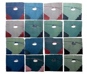 0091-Marina-scognamiglio-lost-in-variation-2017-installazione-di-linoleografie-su-carta-a-mano-khadi-paper-matrice-persa-80x84-cm-circa-20x21-cm-ognuna