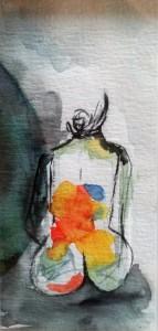 0097-Meltem-erkek-askin Renkleri-acquarello Su Cartoncino-7,5 X 17h Cm