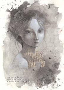 0099-Michela-burzo-florentia-acrilico E Collage Su Carta-25x35 Cm.