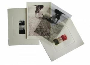 0103-Narciso-bresciani-orizzonti-è Un'opera Composta Da 4 Carte-da Matrici Fotopolimeriche-una Policroma, Tre Monocrome Di Cui Una Immagine Su Lucido Trasparente