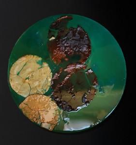 Pitt0006-Alessandro-lobino-waterlilies - Giverny -maps  49°04'27.7n 1°32'04.2e-pane E Resina-50cm Diametro-0006