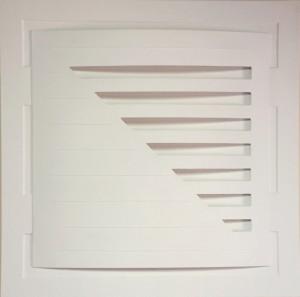 Pitt0027-Augusto-mandelli-scansioni Multiple-cartoncino Vegetale Rivestito In Tela Di Lino - Estroflessione Monocromo Bianco-70x70-0027