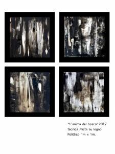 Pitt0028-Barbara-villosio-l'anima Del Bosco. Tecnica Mista Su Tavola-polittico Di 4 50cmx50cm-0028