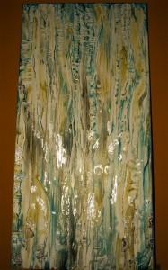 Pitt0035-Chantal-ivernizzi-spiritual Fluxes-olio E Foglia Argento Su Tela-50x100cm-0035