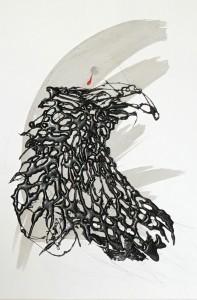 Pitt0036-Claudia-majoli-gallina n°2-grafite E Colla-40x50-0036