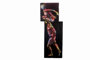 Pitt0056-Emmanuela-zavattaro-verso L'oltre, Acrilico Su Tela, 150x62 L'opera È Composta Da 2 Tele Separate 100x50 E 50x50-0056