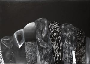 Pitt0059-Fatma-ibrahimi-la Notte-tecnica Mista Su Tela-50x70-0059