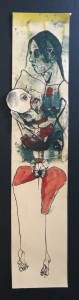 Pitt0060-Federica-frati-dissolving Stars, Tecnica Mista Su Carta(stampa Monotipica, Olio, Collage), 70 X 30 Cm-0060