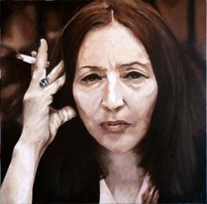Pitt0070-Franco-fasano-ritratto Di Oriana Fallaci-olio Su Tela-40 X 40 X 4-0070