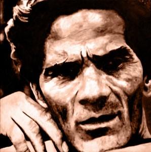 Pitt0071-Franco-fasano-ritratto Di Pier Paolo Pasolini-olio Su Tela-40 X 40 X 4-0071