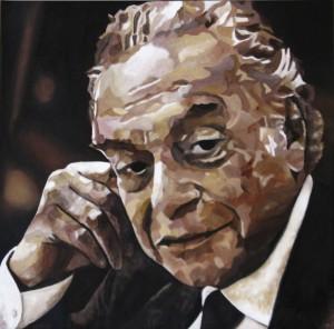 Pitt0072-Franco-fasano-ritratto Di Renato Guttuso-olio Su Tela-40 X 40 X 4-0072