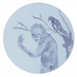 Pitt0095-Lara-monica-costa-i-puri-15cm-diametro-pannello-telato-0095