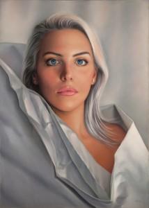 Pitt0111-Luca-tedde-la Dama Bianca-pastelli Morbidi Su Pastelmat-50x70cm-0111