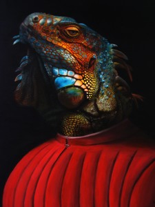 Pitt0122-Marco-poma-iguana Da Messina-acrilico Su Tela-80x100-0122