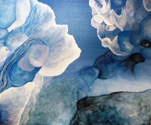 Pitt0127-Maristella-angeli-la Forma Delle Nuvole-acrilico Su Tela-50x60-0127