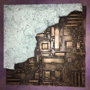 Pitt0144-Morgan-zangrossi-deepinside-tecnica Mista-resina-bronzo E Ossido Di Bronzo-50x50x4-0144