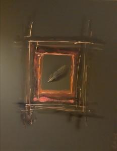 Pitt0192-Ursula-manes-spazio-9-tecnica Mista Su Tela Nera-misura-80x100-0192