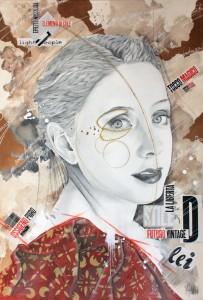Pitt0193-Valentina-azzini lei 70x100cm grafite-collage-e-acrilico-su-tela 2018-0193