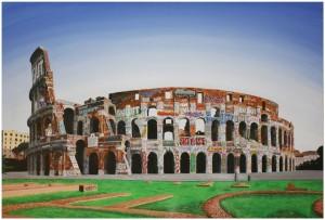 Pitt0195-Valerio-prugnola-il Mio Colosseo-acrilico Su Tela-80x120-0195