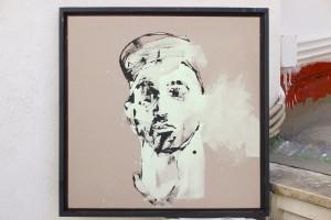 Pitt0199-Walter-molli-head Hunt 3-pittura Al Quarzo Su Tela Di Cotone E Lino Grezzo-60 X 60-0199