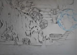 og004-Angela-Foddis-Biosfera-matita-chiaroscuro-matite-colorate-su-carta-33x48-cm