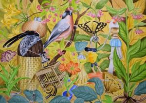 og008-angelo maisto L'Inizio del Viaggio Acquerello su carta Arches cm 51x36