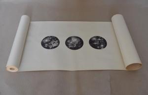 og010-barbara amadori Punti di sospensione persone come stelle penna biro su carta 70x47 cm