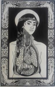 og013-cheung marion Aglaé linoleumgrafia su carta 38x60