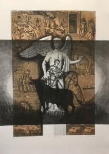 og059-Lorenzo Vale Grande Angelo Bianco II acquaforte su carta fabriano stampata mm 800 x 700 2020