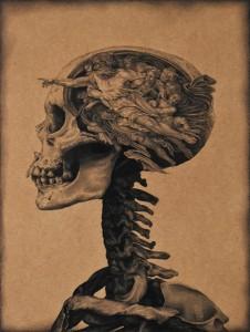 og061-Marco Corridoni The Bicameral Mind pastello su tavola 40x60cm