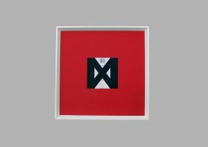 og063-marco guerrazzi MMXX COVID 2020 COLLAGE CON CARTONCINO E RIPRODUZIONE DI GRAFICA 50X50