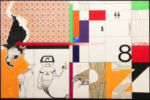 og066-Marco Moschetti Z8 mista su carta 30x45